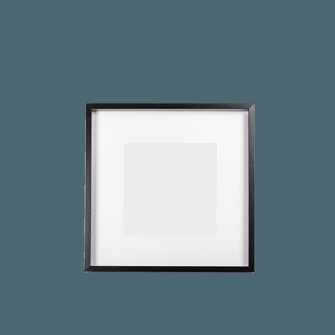 Keretezett kép (fekete, négyzetes)