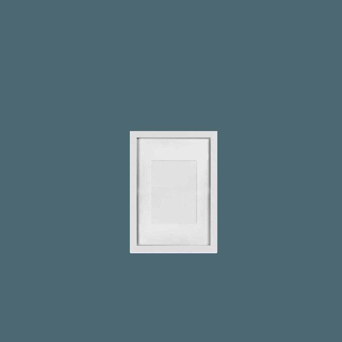 Keretezett kép (fehér, álló)